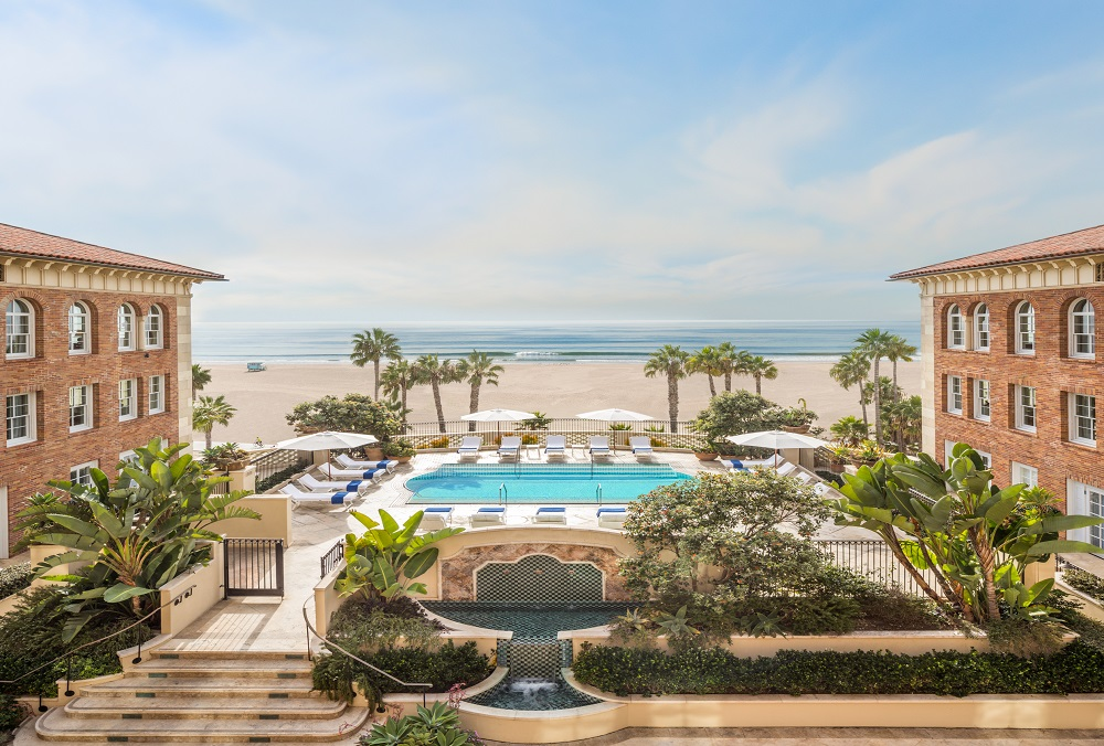 The pool at Casa Del Mar in Santa Monica, California.